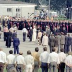 Pożegnanie papieża Jana Pawła II na lotnisku Balice kończące I pielgrzymkę do Polski.