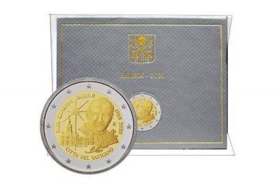 Wizerunek Jana Pawła II na monecie watykańskiej